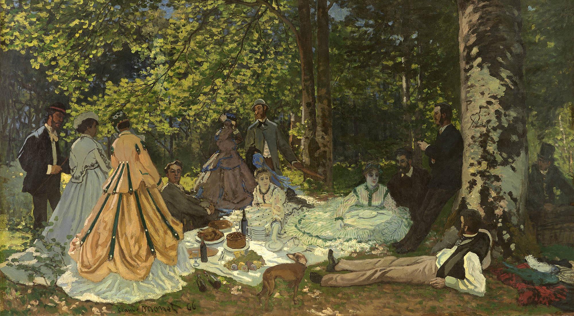 картина Пикник на траве, Шайи ( Шайли ) :: Клод Моне - Моне Клод (Claude Monet) фото