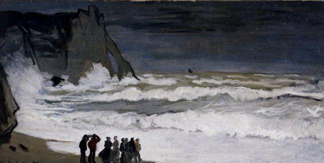 пезаж Моне <Шторм возле Этрета > :: Клод Моне - Claude Monet фото