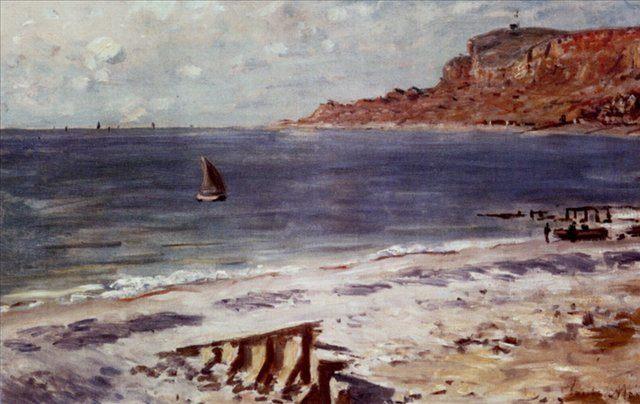 Плавание возле Сент-Адресс :: Клод Моен - Моне Клод (Claude Monet) фото