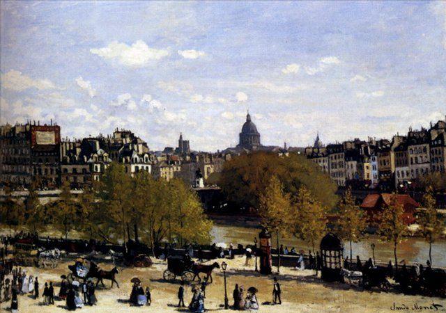 Набережная возле Лувра, Париж :: Клод Моне - Моне Клод (Claude Monet) фото