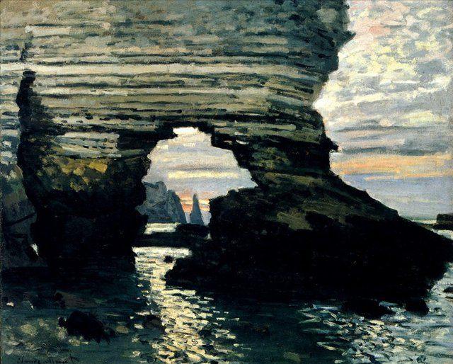 Порт Аваль, Этрета, каменные ворота :: Клод Моне - Claude Monet фото