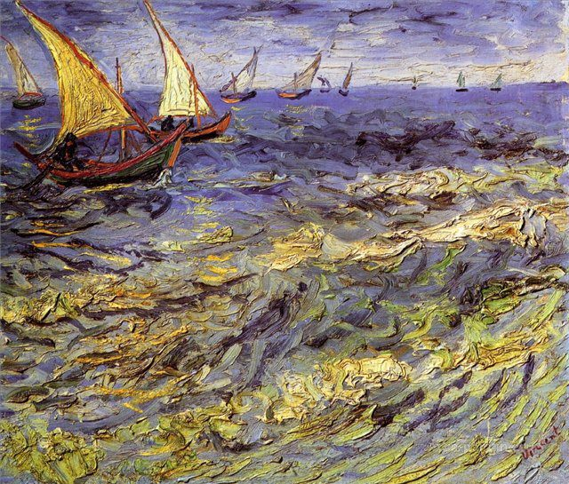 пейзаж Море в Сент-Мари :: Винсент Виллем Ван Гог, описание картины  - Van Gogh фото