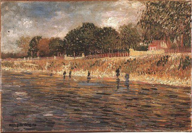 Набережная Сены :: Винсент Виллем Ван Гог, описание картины ( Нидерланды, Франция ) - Van Gogh (Ван Гог) фото