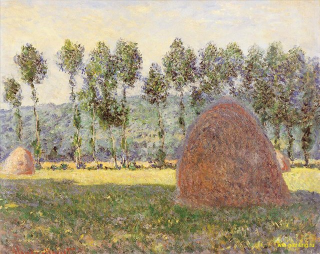 пейзажи Стог сена около Живерни :: Клод Моне - Claude Monet фото