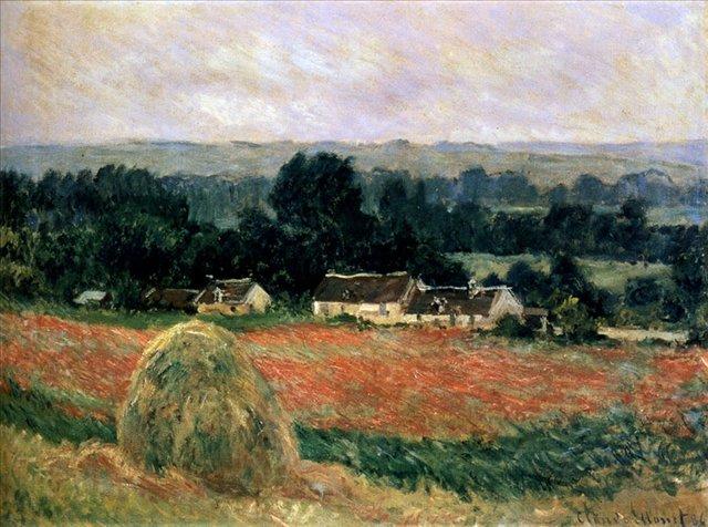 Стога возле Живерни ::  Клод Моне ( Франция ) Claude Monet - Claude Monet фото
