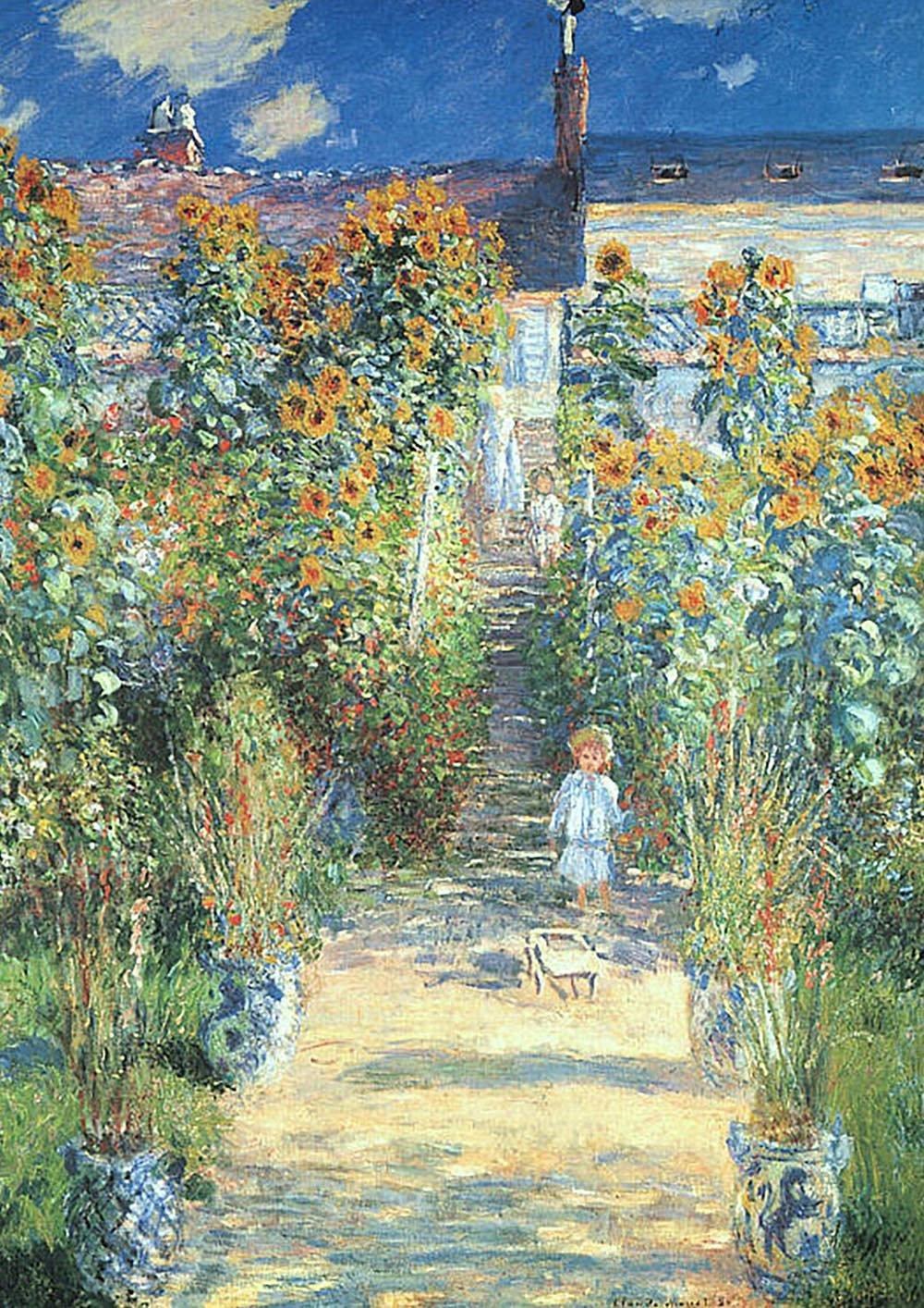 пейзаж < Сад Моне в Ветейе >:: Клод Моне, описание картины - Моне Клод (Claude Monet) фото