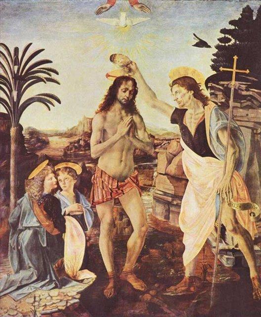 Крещение Христа :: Леонардо да Винчи - да Винчи, Леонардо фото