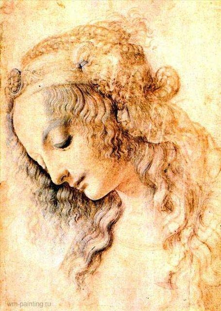Штудия головы мадонны :: Леонардо да Винчи - da Vinci Leonardo фото