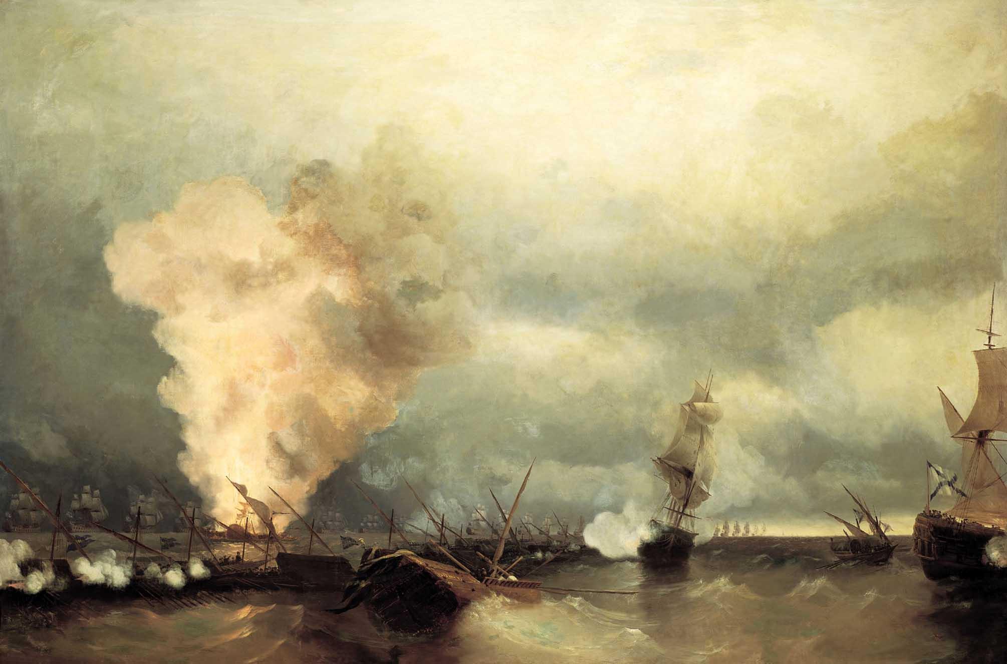 Морское сражение при Выборге 29 июня 1790 года :: Айвазовский И.К., описание картины - Aivazovsky, Ivan Constantinovich фото