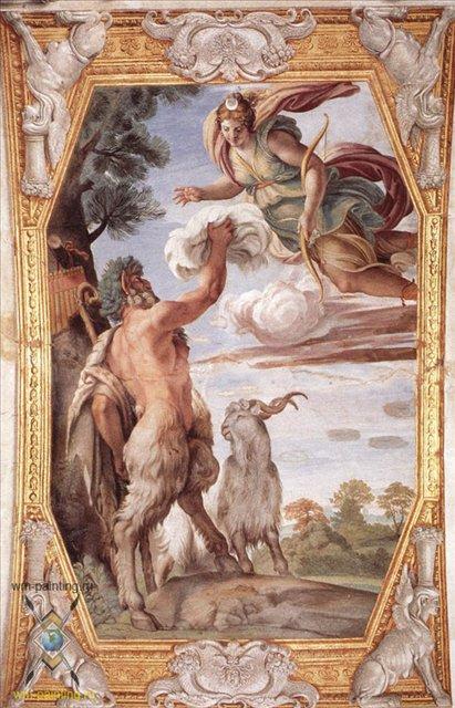 Уважение Дианы :: Аннибале Караччи ( Италия ) - Фрески, монументальная живопись, роспись стен фото