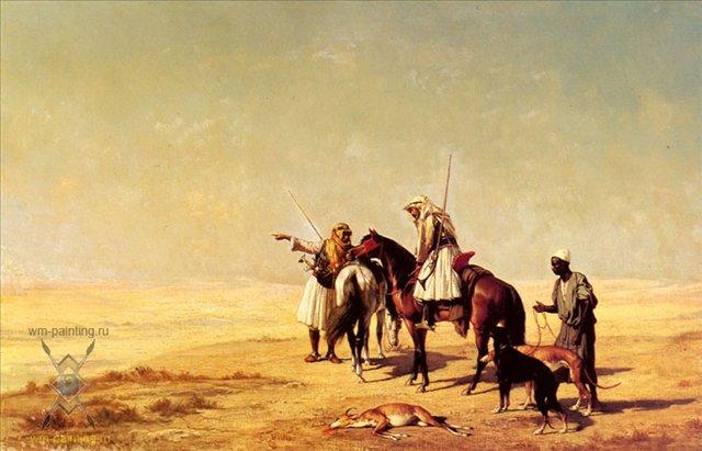 Охота в пустыне :: Этьен Бийе ( Франция ) - Жанровые сцены фото