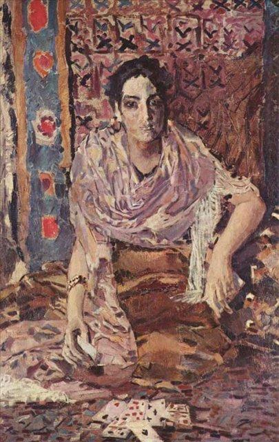 портрет Гадалка (цыганка)::  Врубель М.А. , описание картины - Vrubel Michail фото