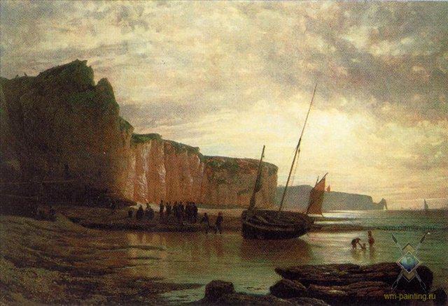 Нормандский берег :: Лагорио Л. Ф. - Море в живописи ( морские пейзажи, seascapes ) фото