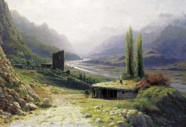 Кавказское ущелье :: Лагорио Л. Ф. - Пейзаж ( пейзажная живопись ) фото