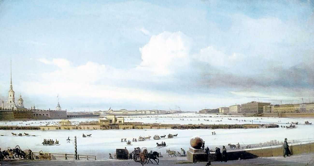 Катание на Неве :: Боголюбов А. П. [ Alexey Bogoliubov ] - Море в живописи ( морские пейзажи, seascapes ) фото