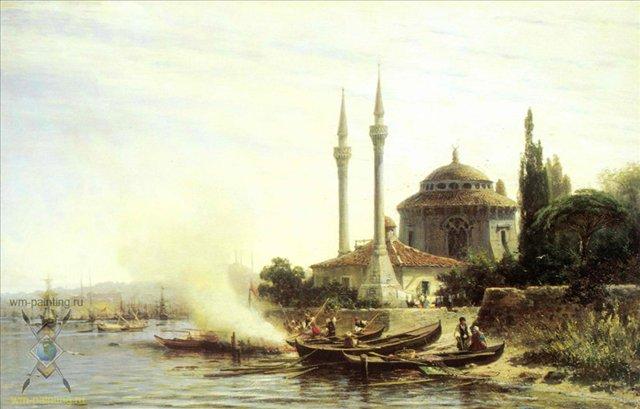 Золотой рог в Константинополе :: Боголюбов А. П. ( Alexey Bogoliubov ) - Море в живописи ( морские пейзажи, seascapes ) фото