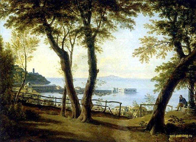 Приморский вид в Италии :: Воробьев М.Н. - Море в живописи ( морские пейзажи, seascapes ) фото