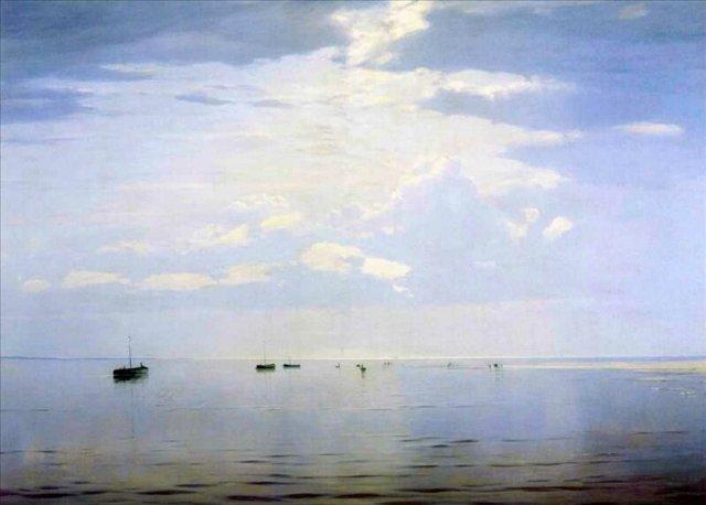 На Волге ::  Дубовской Н. Н. - Море в живописи ( морские пейзажи, seascapes ) фото