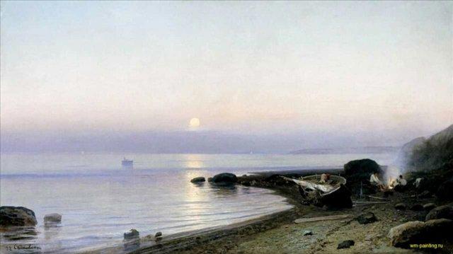 На берегу моря ::  Судковский Р. Г. - Море в живописи ( морские пейзажи, seascapes ) фото