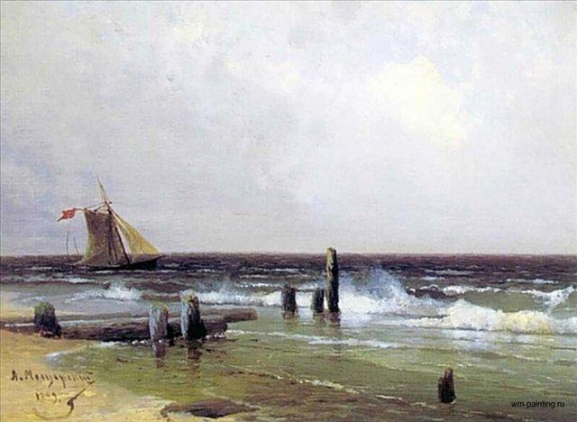 Морской пейзаж ::  Мещерский А. И. - Море в живописи ( морские пейзажи, seascapes ) фото