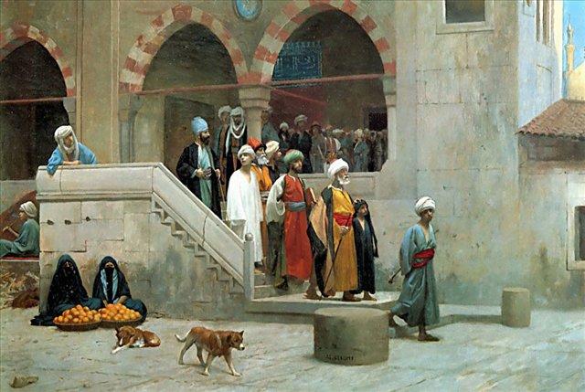Выход из мечети :: Жером Жан-Леон ( Франция ) - Арабский восток фото