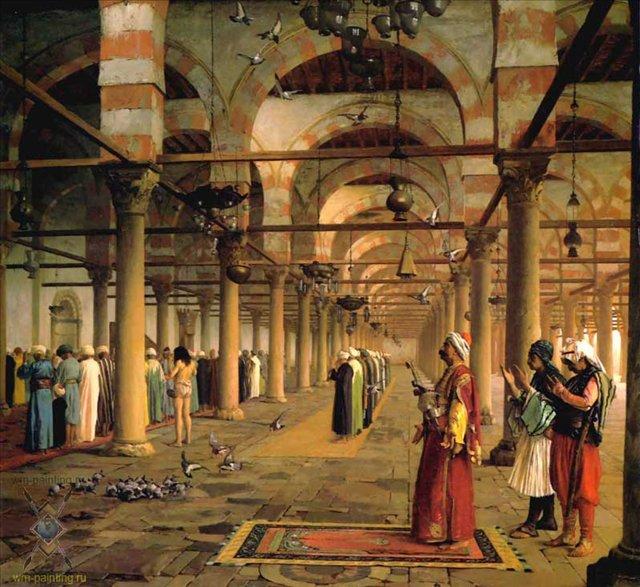 Молитва в Каирской мечети :: Жером Жан-Леон ( Франция ) - Арабский восток фото