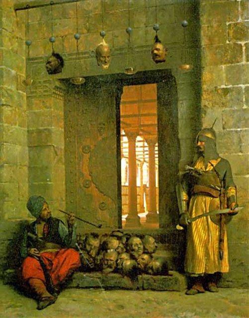 картина Головы заключённых :: Жером Жан-Леон ( Франция ) - Арабский восток фото