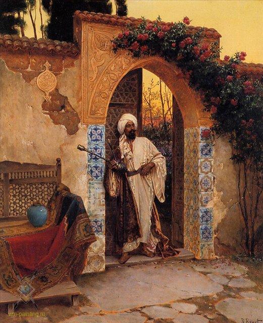 У входа :: Рудольф Эрнст - Арабский восток фото