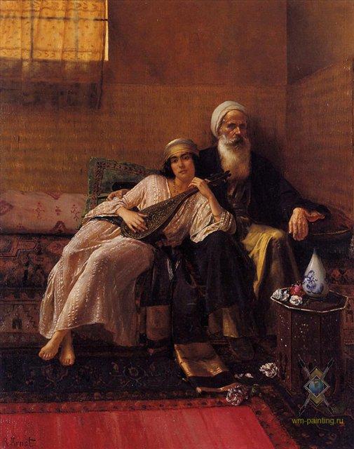 Играющая :: Рудольф Эрнст - Арабский восток фото