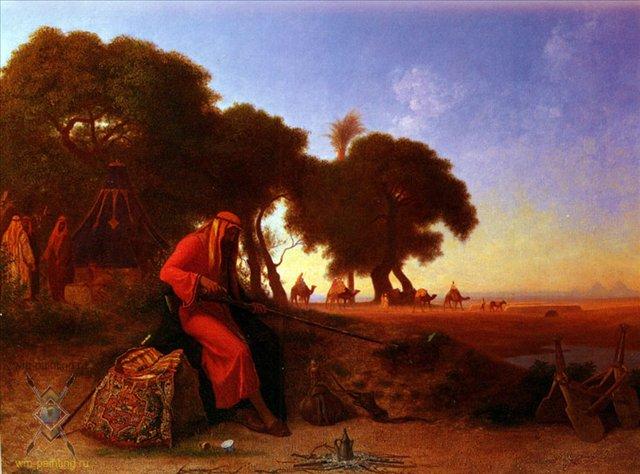 Вооруженный араб :: Теодор Чарльз Фрей - Арабский восток фото