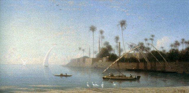 Вид на Бени-Суеф, Египет :: Теодор Чарльз Фрей - Арабский восток фото
