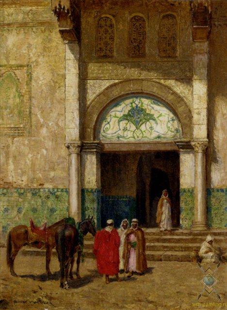 картина Отдых возле мечети :: Эдисон Томас Миллар - Архитектура фото