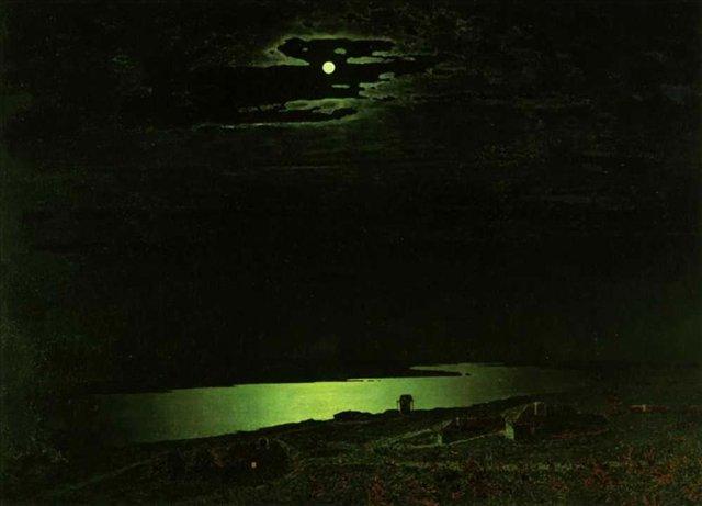 Ночь на Днепре :: Куинджи, Архип Иванович - Море в живописи ( морские пейзажи, seascapes ) фото
