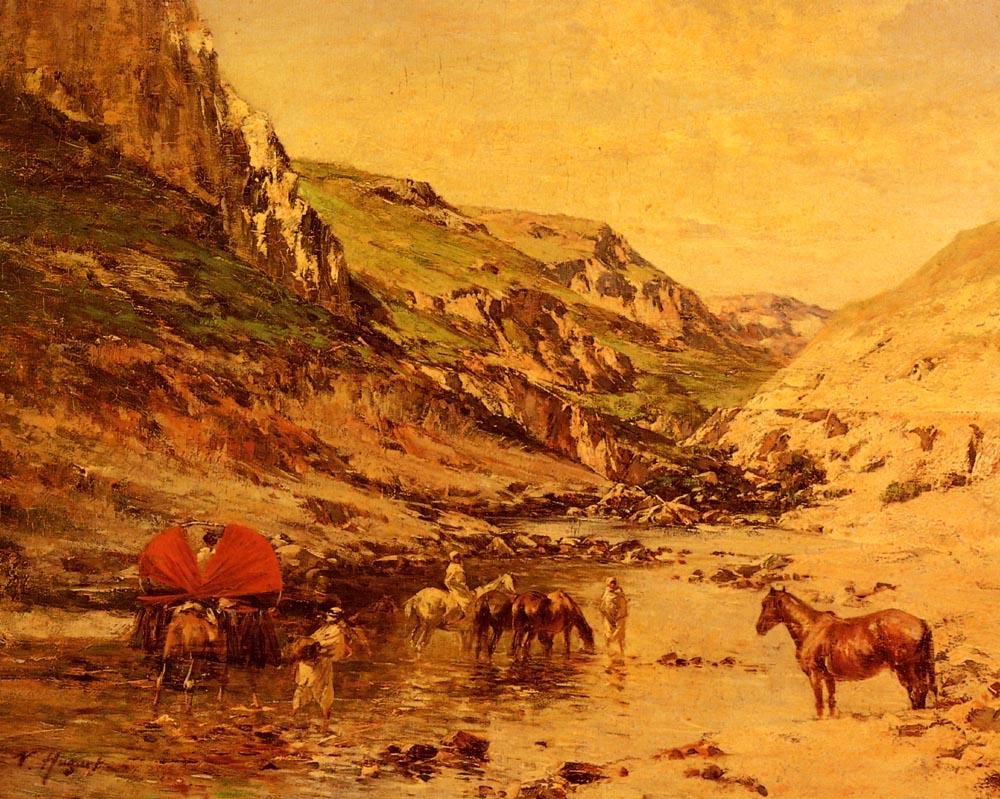 Арабы, отдыхающие в ущелье :: Юге ( Хуге) Виктор Пьер - Пейзаж ( пейзажная живопись ) фото