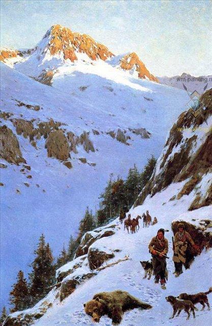 В горах :: Генри Фарни ( США) - Жанровые сцены фото