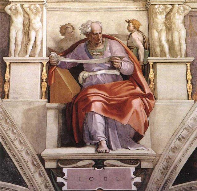 Пророк Иоиль :: Микеланджело Буаноротти ( Италия ) [ Prophet Joel by MICHELANGELO ] - Фрески, монументальная живопись, роспись стен фото