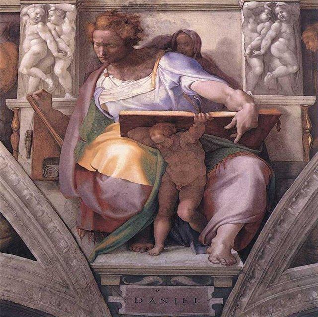 Пророк Даниил ::  Микеланджело Буаноротти ( Италия ) - Фрески, монументальная живопись, роспись стен фото
