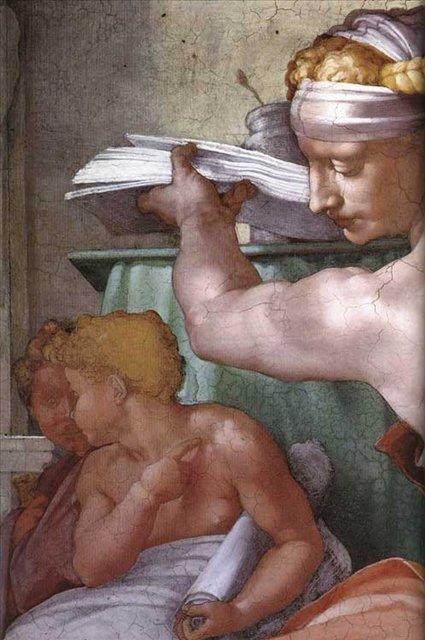 Ливийская сивилла ( деталь ) :: Микеланджело Буаноротти ( Италия ) - Фрески, монументальная живопись, роспись стен фото