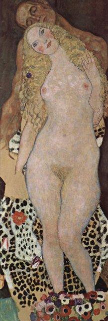 Адам и Ева :: Густав Климт, картина ню, эротика в живописи  - Gustav Klimt фото