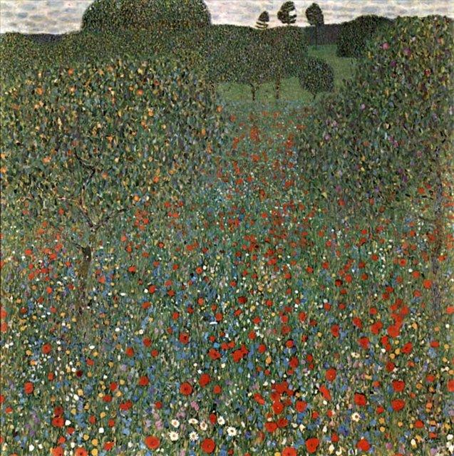 Поле маков :: Густав Климт ( Австрийский художник ) - Gustav Klimt (Климт Густав ) фото