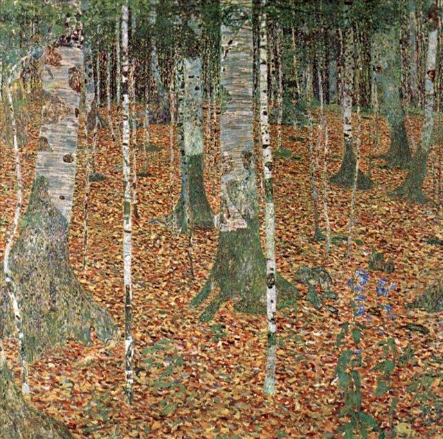 Березовая роща ::  Густав Климт (Австрия ) - Gustav Klimt (Климт Густав ) фото