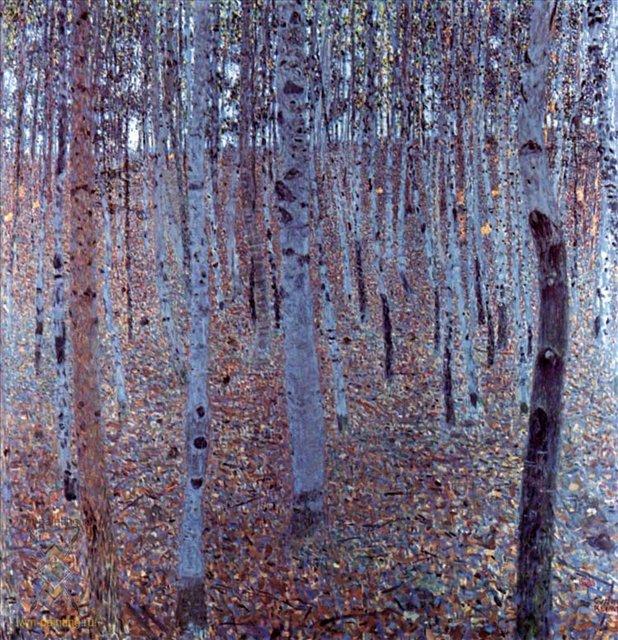 Буковая роща :: Густав Климт (Австрия ) - Gustav Klimt (Климт Густав ) фото
