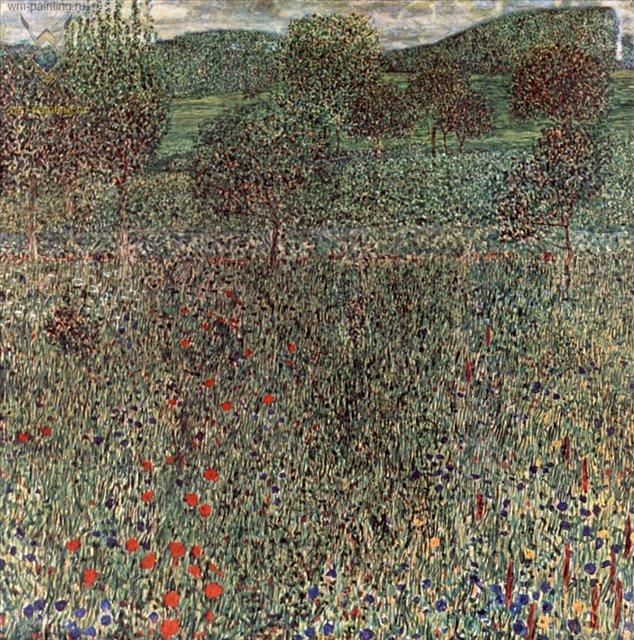 Цветущая нива ( пейзаж ) :: Густав Климт (Австрия ) - Gustav Klimt (Климт Густав ) фото