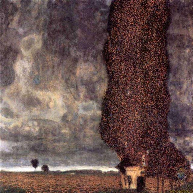 Тополь-исполин, или Надвигающаяся гроза :: Густав Климт (Австрия ) - Gustav Klimt (Климт Густав ) фото