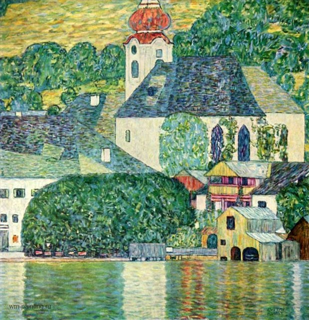 Церковь в Кассоне (Пейзаж с кипарисами) :: Густав Климт ( Австрия ) - Gustav Klimt (Климт Густав ) фото