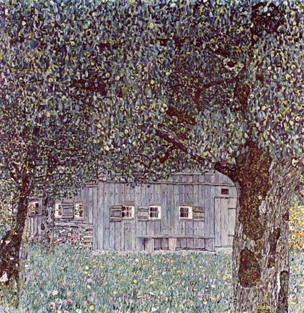 Верхняя Австрия крестьянский дом :: Густав Климт ( Австрия ) - Gustav Klimt (Климт Густав ) фото