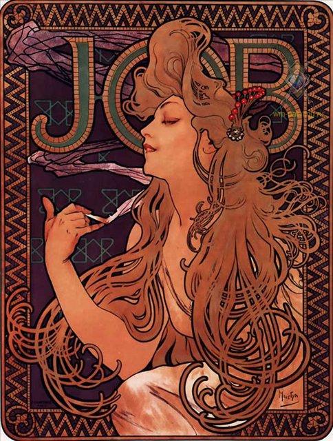 """Реклама папиросной бумаги """"JOB"""" :: Альфонс Муха ( Чехия, Франция ) - Муха Альфонс фото"""