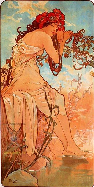 картина Лето :: Альфонс Муха ( Чехия ) [ summer, Alphonse Maria Mucha, the czech] - Alfons Maria Mucha фото