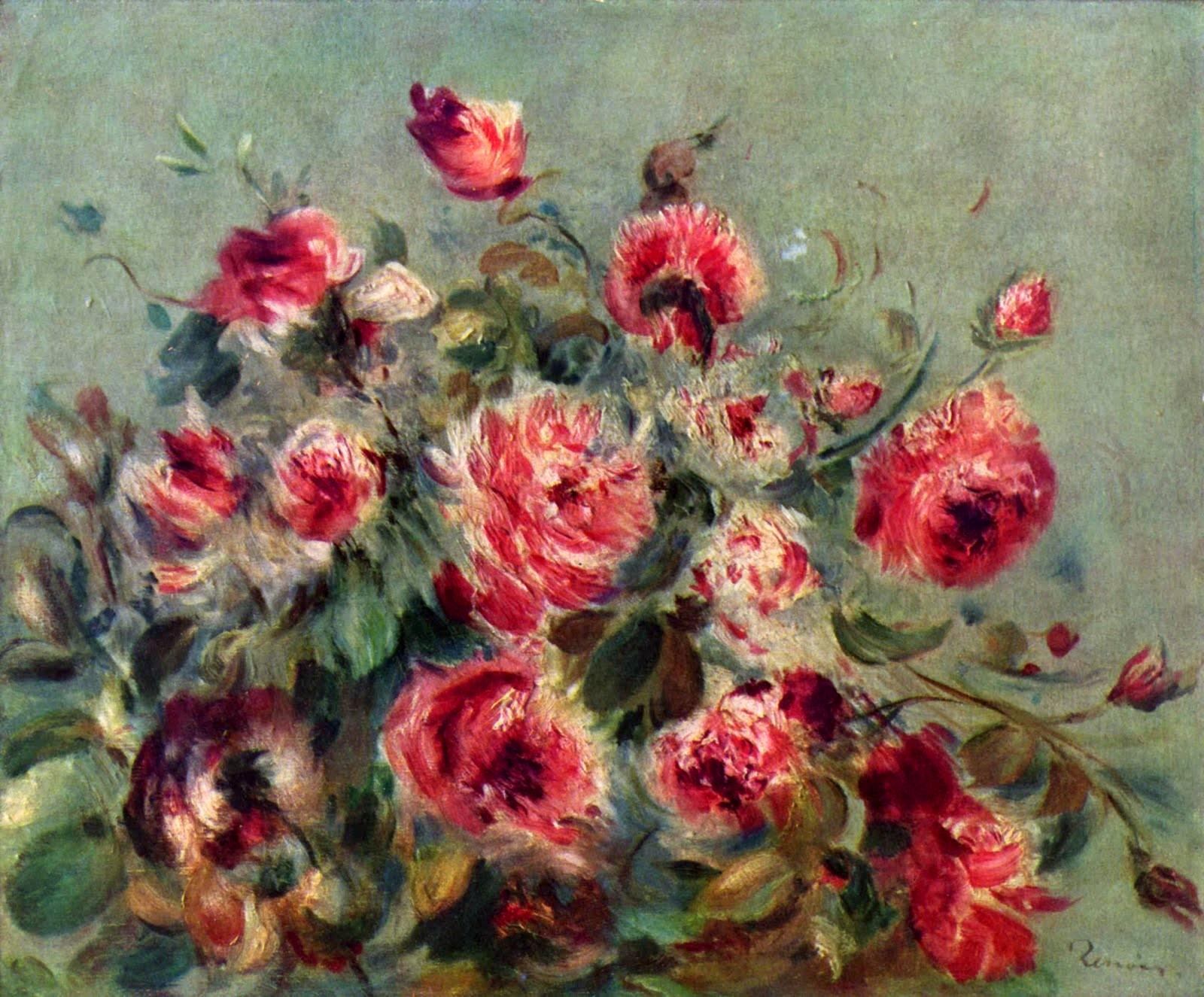 Натюрморт. Розы из Варжмона - Ренуар Огюст ( new ) фото