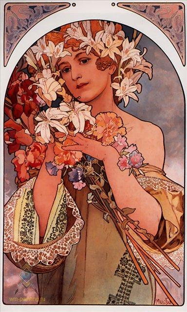 картина Цветок :: Альфонс Муха, плюс пара слов о подарках - Муха Альфонс фото